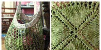 Knit Mesh Market Bag Free Knitting Patterns