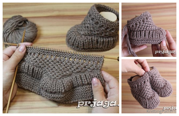 Knit Warm Baby Booties Free Knitting