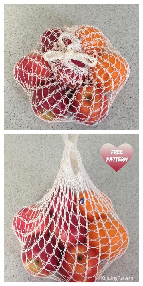 Knit Weightless Produce Bag Free Knitting Pattern