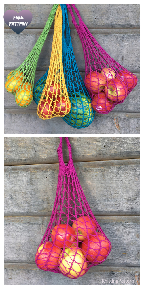 Updated Knit Weightless Produce Bag  Free Knitting Pattern