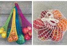 Knit Weightless Produce Bag Free Knitting Pattern