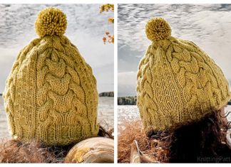 Trumpeter's Toque Cable Hat Free Knitting Pattern