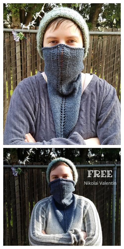 Quick Knit Vertebral Triangle Cowl Free Knitting Patterns