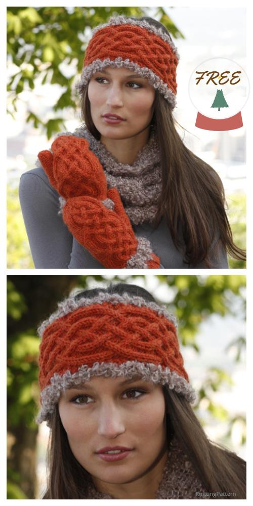 Knit Princess Celtic Headband Free Knitting Pattern