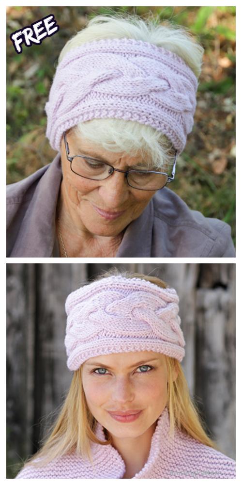 Knit Women Celtic Romance Headband Free Knitting Patterns