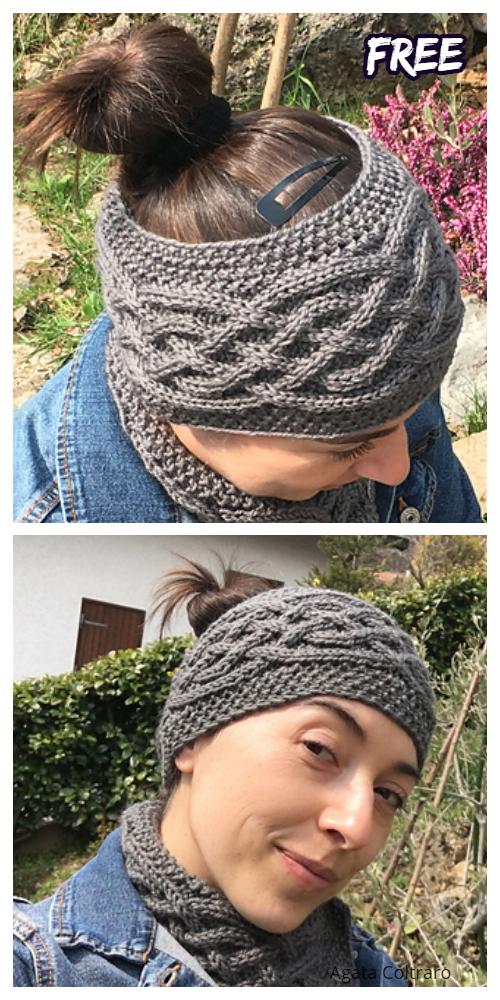 Knit Women Celtic Headband Free Knitting Patterns