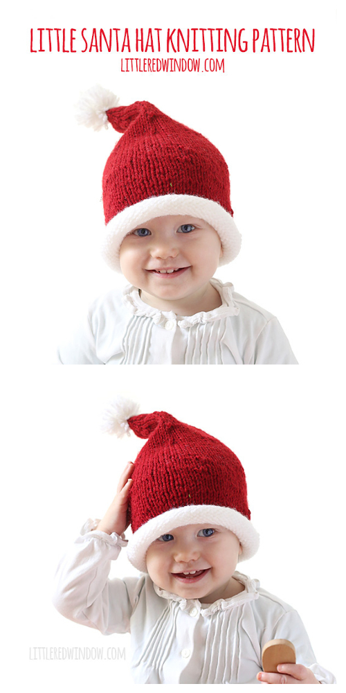 Little Santa Hat Free Knitting Pattern