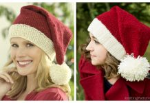 Knit Christmas Santa Hat Free Knitting Patterns