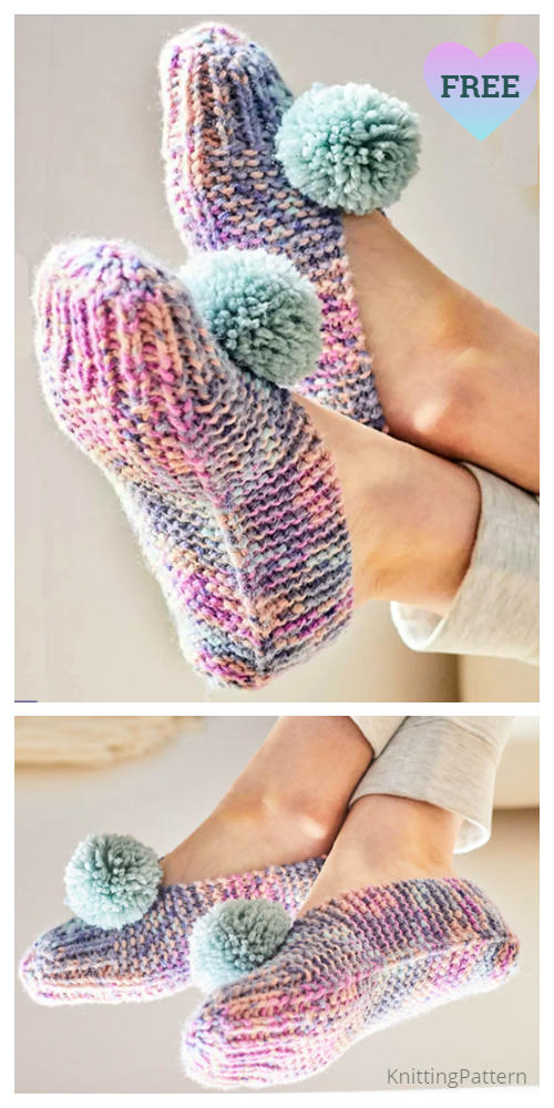 Easy Old Fashioned Sassy Slippers Free Knitting Patterns