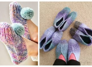 Easy Old Fashioned Slippers Free Knitting Patterns