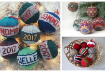 Knit Christmas Bauble Ornament Free Knitting Patterns
