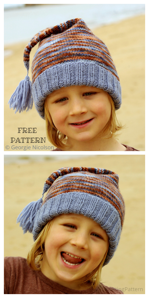 Knit Sid Beanie Cap Free Knitting Patterns
