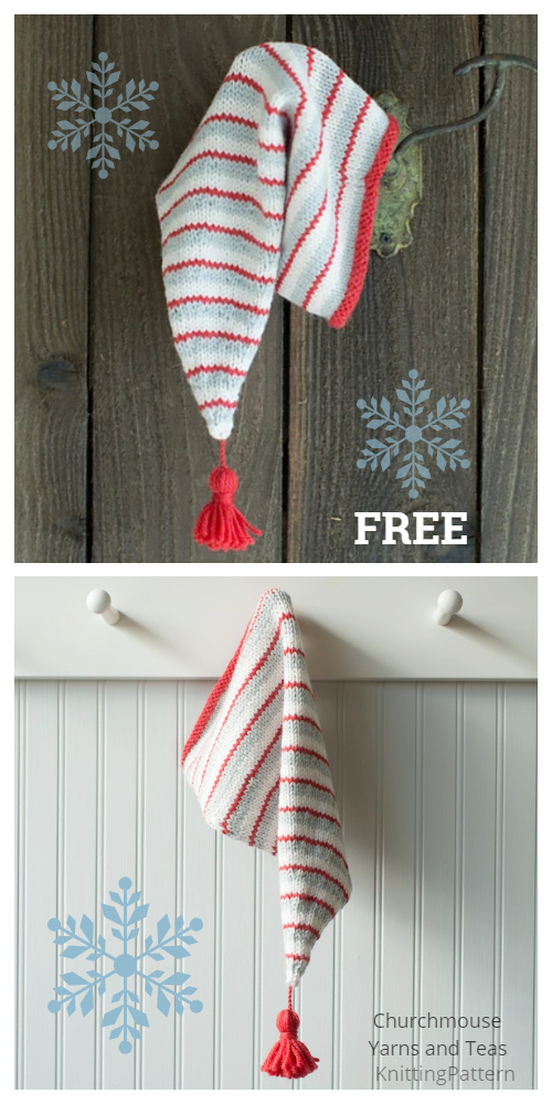 Knit Christmas Jolly Stocking Cap  Free Knitting Patterns