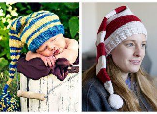 Knit Christmas Stocking Cap Free Knitting Patterns