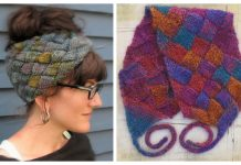 Knit Entrelac Headband Free Knitting Patterns