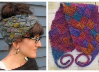 Knit Entrelac Headband Free Knitting Patterns