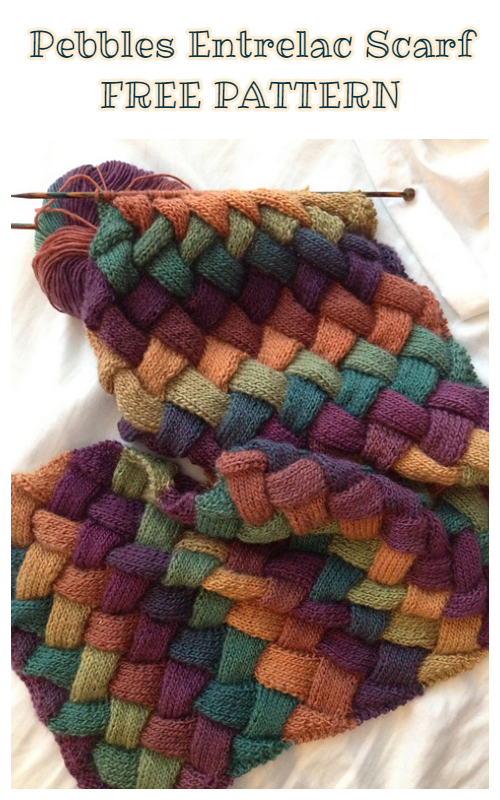 Knit Pebbles Entrelac Scarf Free Knitting Pattern