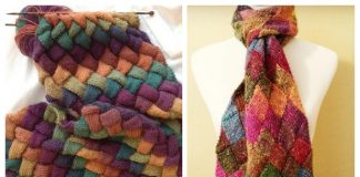 Knit Entrelac Scarf Free Knitting Patterns