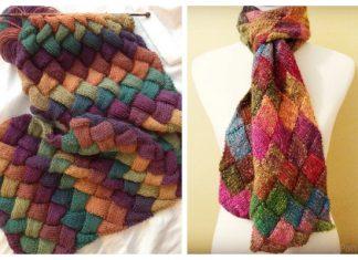 Knit Entrelac Scarf Free Knitting Patterns