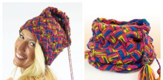 Knit Hat Scarf In-One Free Knitting Patterns