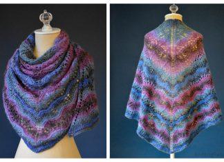 Knit Juniper Berry Lace Shawl Free Knitting Pattern