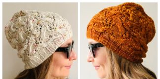 Knit Lace Ribbed Hat Free Knitting Patterns
