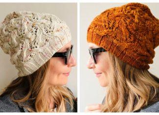 Knit Lace Ribbed Hat Free Knitting Patterns