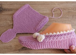 Knit One-Piece Pink Slippers Free Knitting Pattern + Video