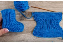 Knit One-Piece Stretchy Baby Booties Free Knitting Pattern + Video