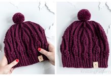 Knit November Cable Hat Free Knitting Pattern