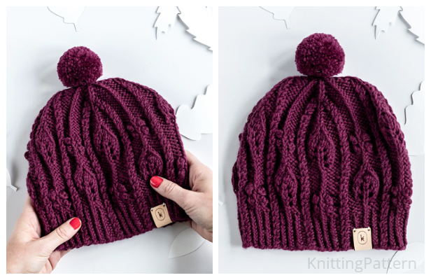 Knit November Cable Hat Free Knitting Pattern