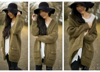 Knit Women Dotty Cardigan Free Knitting Pattern