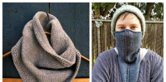 Quick Knit Bandana Triangle Cowl Free Knitting Patterns