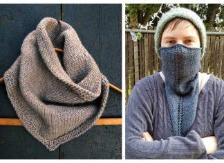 Quick Knit Bandana Triangle Cowl Free Knitting Patterns