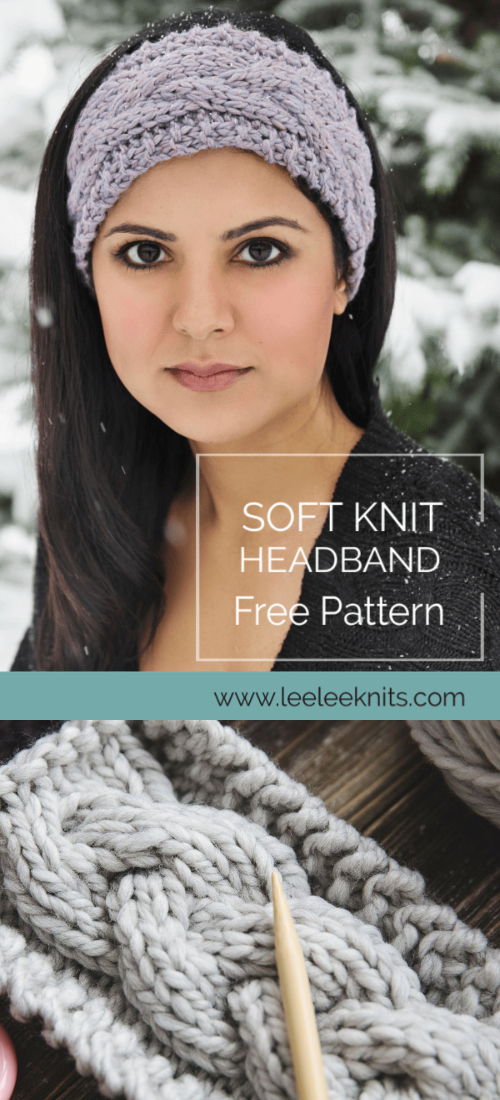 Knit The Softest Winter Cable Headband Free Knitting Patterns