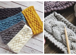 Knit Woven Cable Headband Free Knitting Patterns