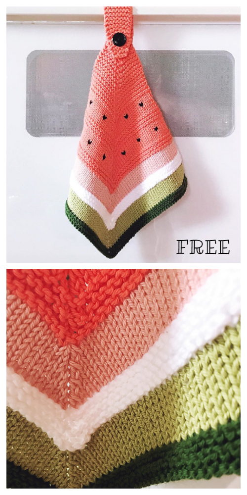 Knit Soft Cotton Washcloth Free Knitting Pattern