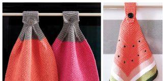 Knit Easy DishCloth Free Knitting Pattern + Video