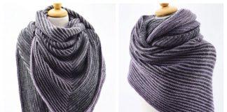 Knit Shadow Shawl Free Knitting Pattern