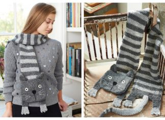 Knit Cat Scarf Free Knitting Patterns