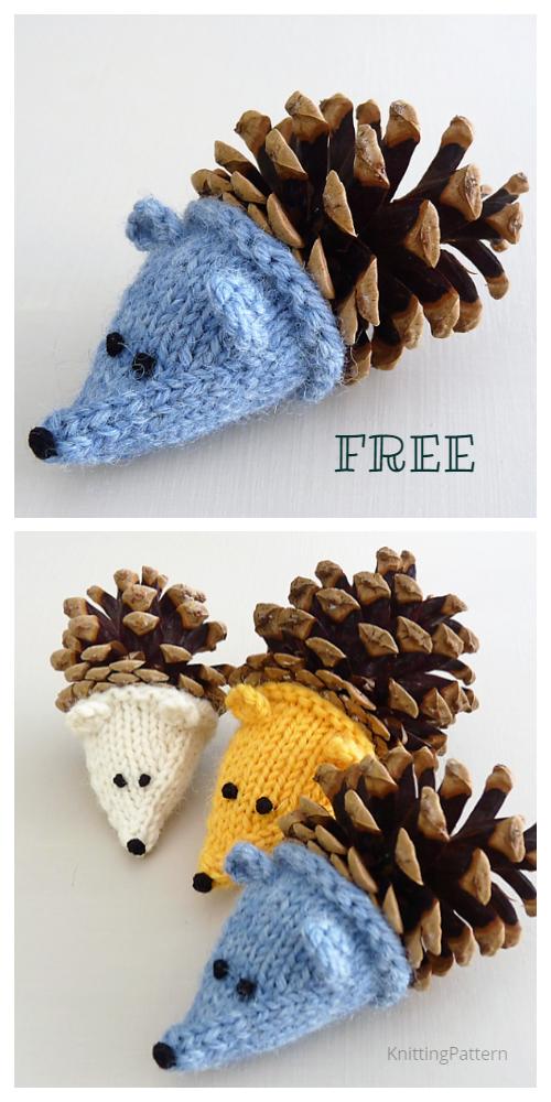 Knit Pine Cone Hedgehog Free Knitting Patterns