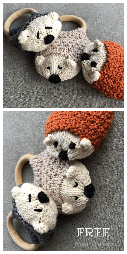 Knit Hedgehog Free Knitting Patterns