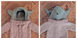 Knit Baby Yoda Jacket Free Knitting Pattern