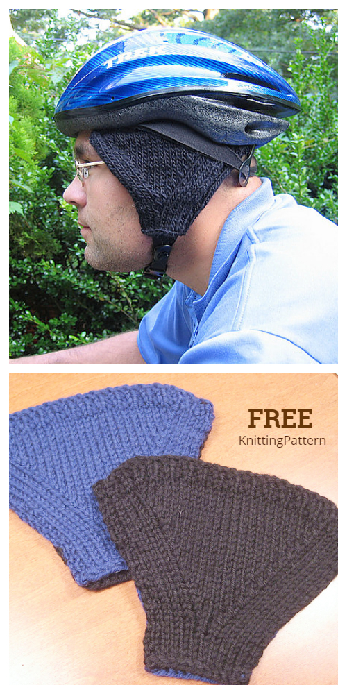 Knit Bike Helmet Ear Warmers Free Knitting Patterns