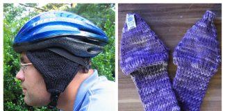 Knit Bike Helmet Ear Warmers Free Knitting Patterns