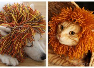 Knit Cat+Dog Lion Snood Free Knitting Patterns