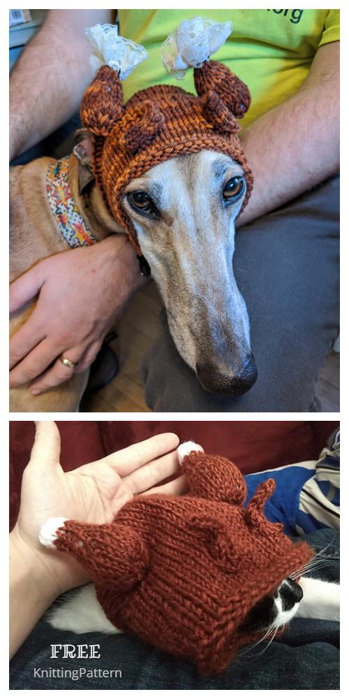 Knit Christmas Dog Turkey Hat ree Knitting Patterns