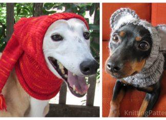 Knit Christmas Dog Hat Free Knitting Patterns