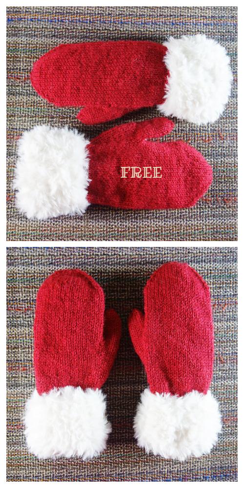 Knit Christmas Mittern Free Knitting Patterns