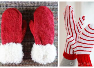 Knit Christmas Mittern Free Knitting Patterns